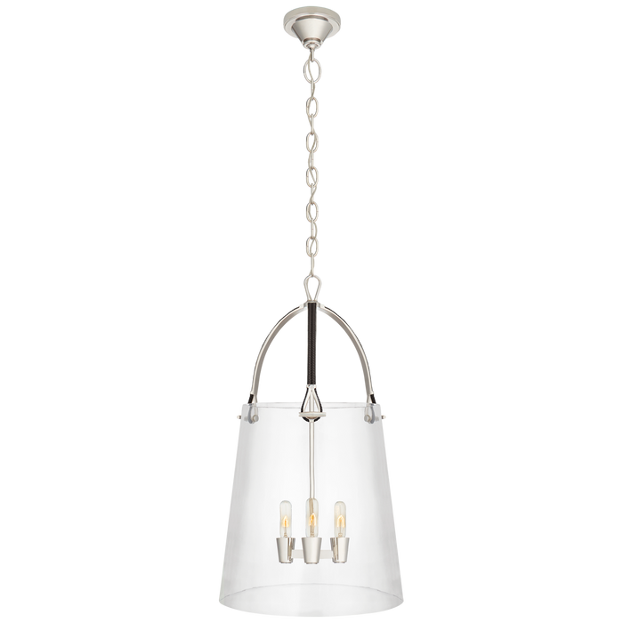 Julian Large Lantern - Polished Nickel Finish