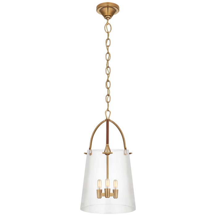 Julian Medium Lantern - Natural Brass Finish