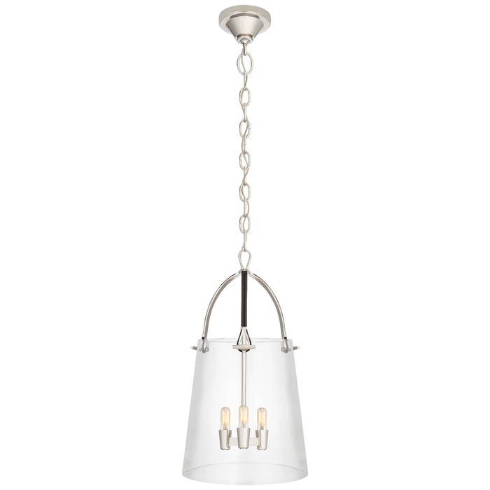Julian Medium Lantern - Polished Nickel Finish