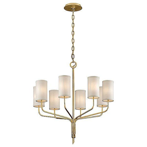 Juniper 8 Light Chandelier Textured Gold Leaf