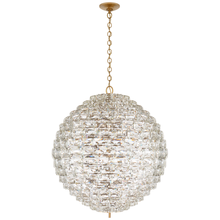 Karina Grande Sphere Chandelier - Antique-Burnished Brass Finish
