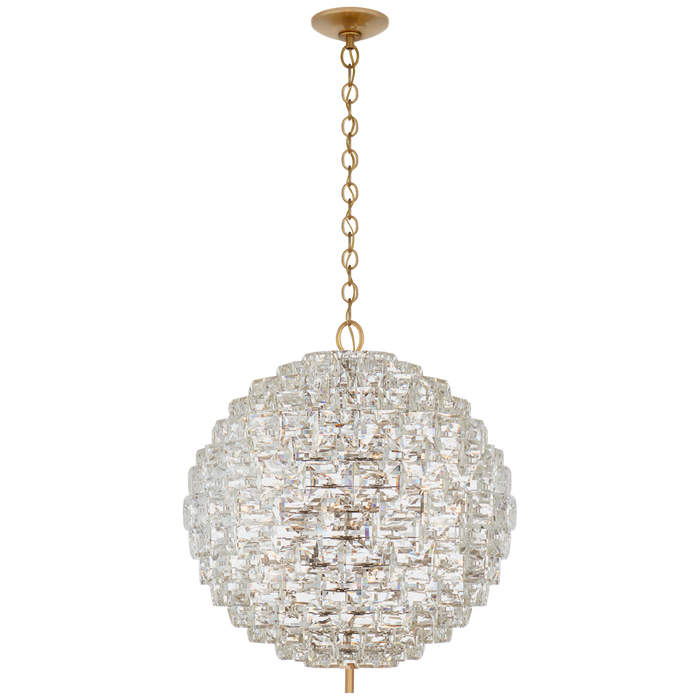 Karina Large Sphere Chandelier - Antique-Burnished Brass Finish
