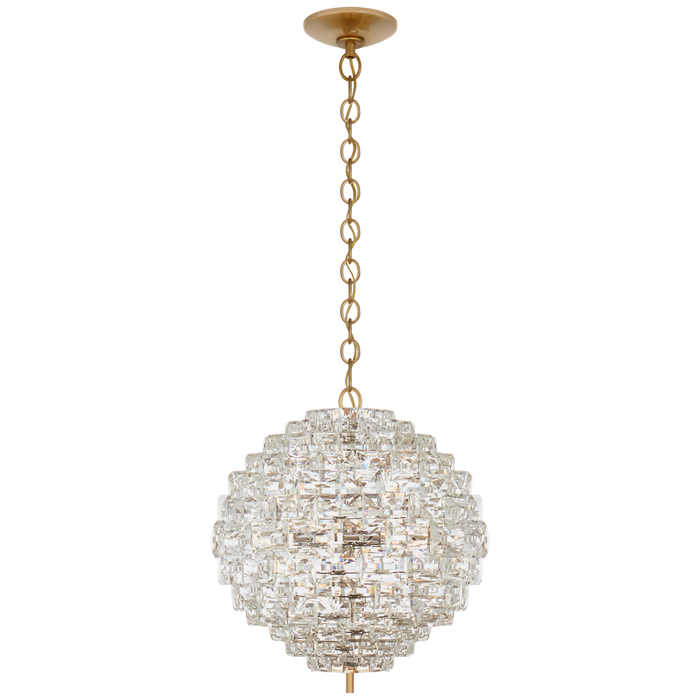 Karina Medium Sphere Chandelier - Antique-Burnished Brass Finish