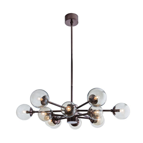 Karrington Small Chandelier Brown Nickel