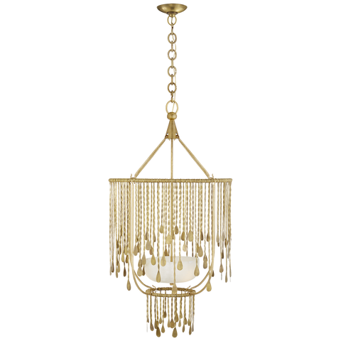 Kayla Medium Sculpted Chandelier Natural Brass