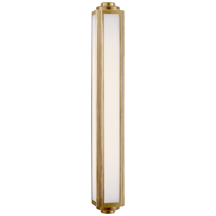 Keating Large Sconce - Natural Brass Finish