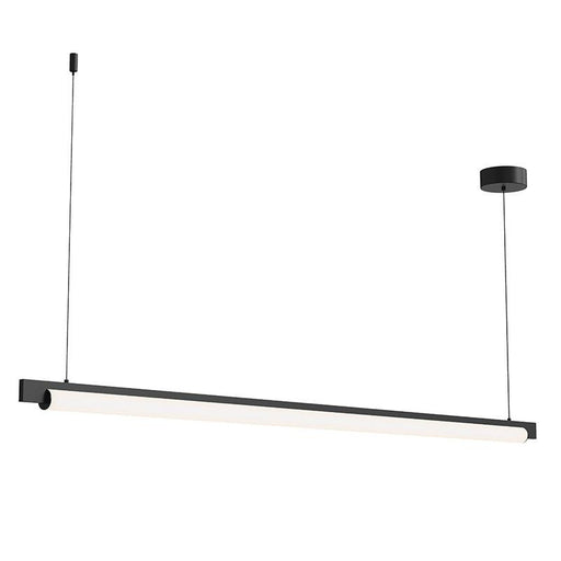 "Keel 60"" LED Pendant - Satin Black Finish"