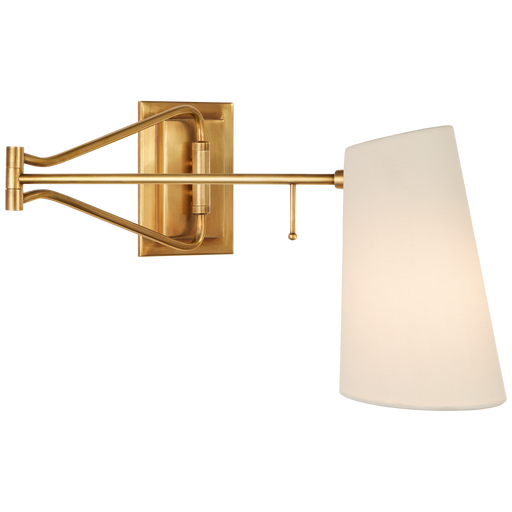Keil Swing Arm Wall Light - Hand-Rubbed Antique Brass