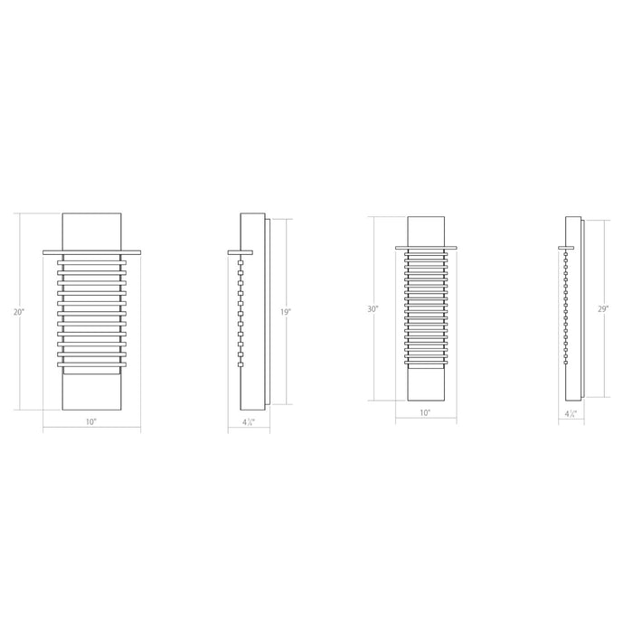 Kengo LED Outdoor Wall Sconce - Diagram