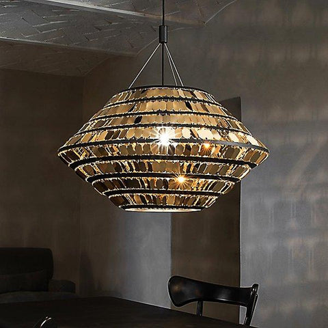 Kika LED Pendant - Black/Gold
