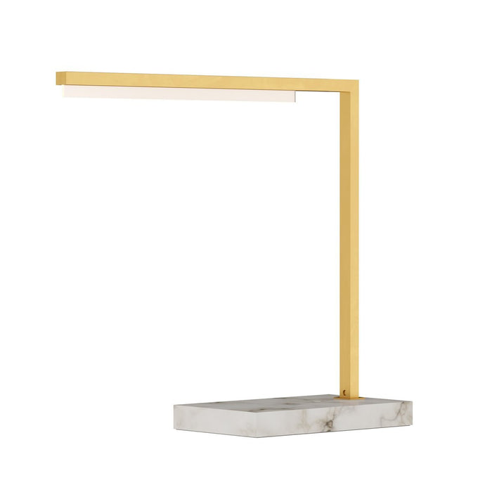Klee 18 Table Lamp - Natural Brass/Marble
