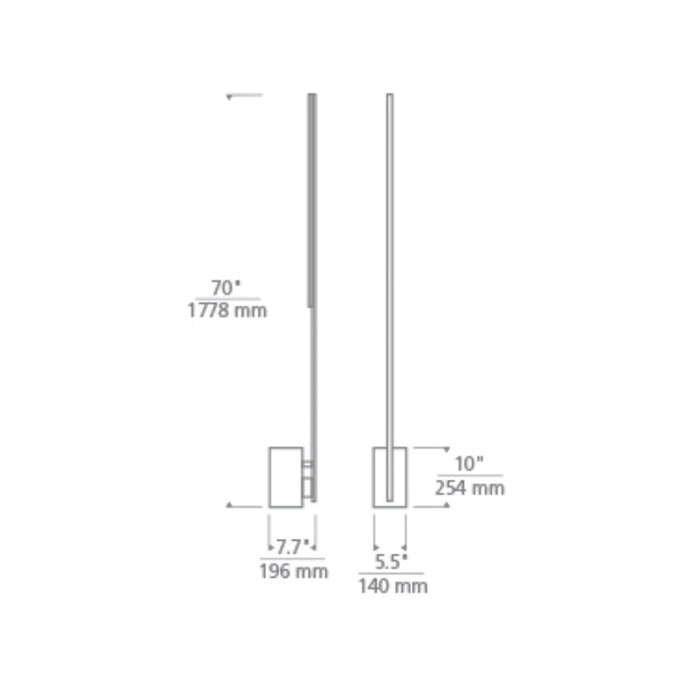 Klee 70 Floor Lamp - Diagram