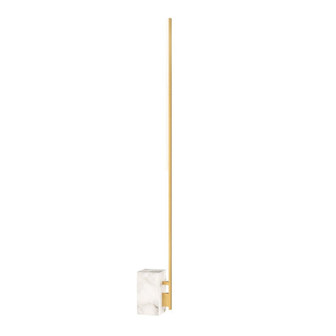 Klee 70 Floor Lamp - Natural Brass/Marble