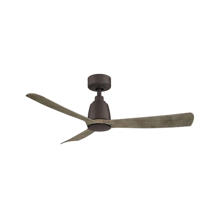 "Kute 44"" Ceiling Fan - Matte Greige Finish with Weathered WoodBlades"