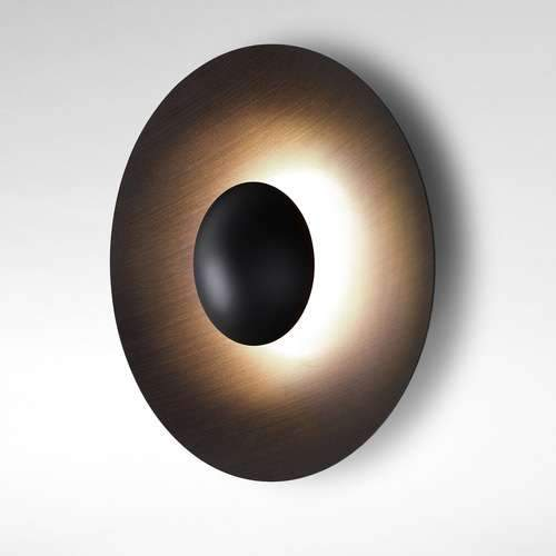 LED-Ginger Flush Mount Wall Lamp - Wenge Finish