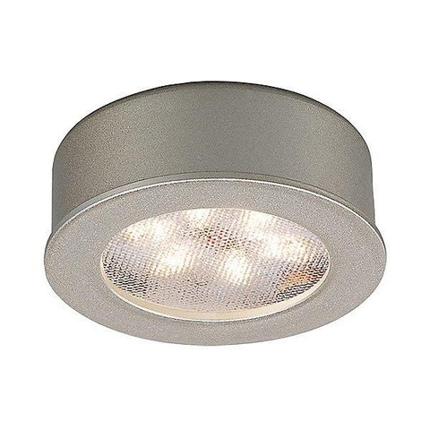 LEDme Brushed Nickel HR-LED87 Round Button Light