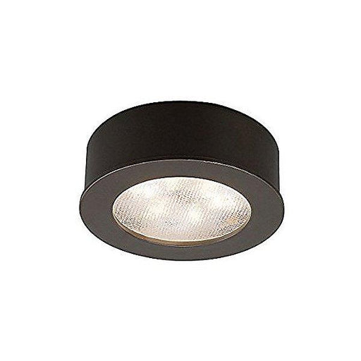 LEDme Round Surface Mount Button Light Dark Bronze