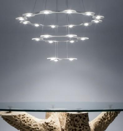 LUMEN CENTER FLAT SATURN 3 SUSPENSION LAMP