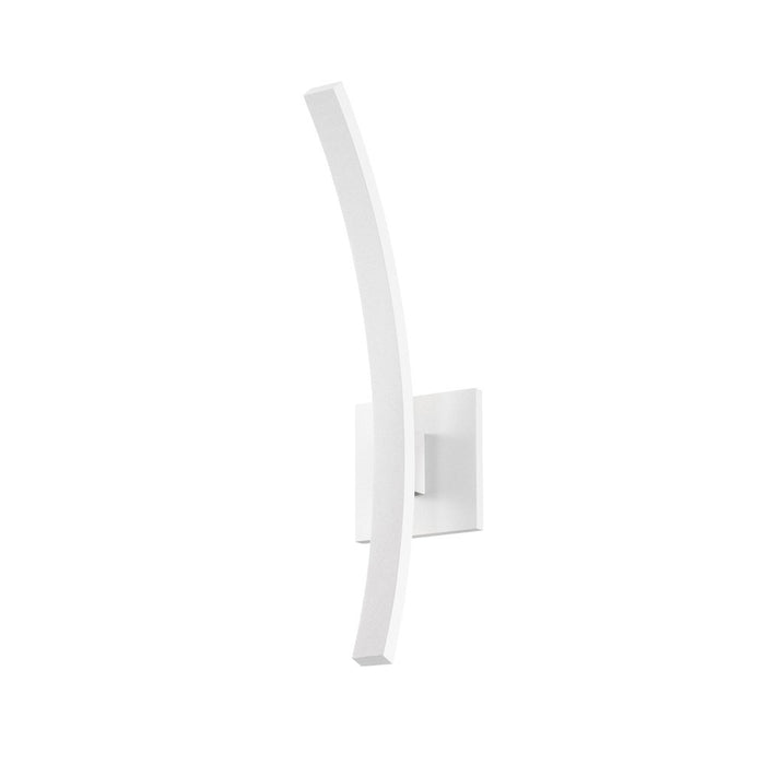 "L'Arc 18"" Outdoor LED Wall Sconce - White"