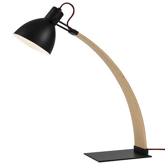 Laito Wood Table Lamp - Matte Black Finish