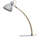 Laito Wood Table Lamp - Matte Gray Finish