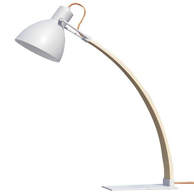 Laito Wood Table Lamp - Matte White Finish