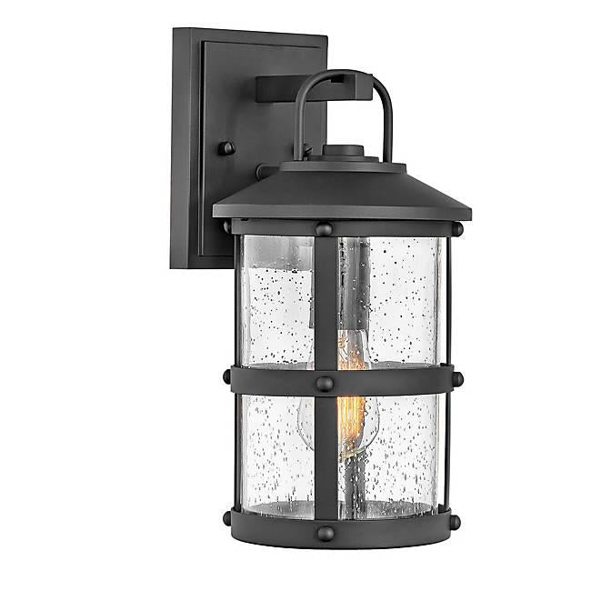 Lakehouse Small Outdoor Wall Sconce - Black Finish