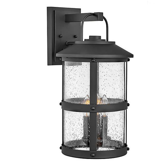 Lakehouse Large Outdoor Wall Sconce - Black Finish