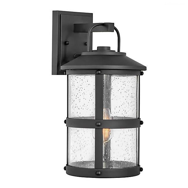 Lakehouse Medium Outdoor Wall Sconce - Black Finish