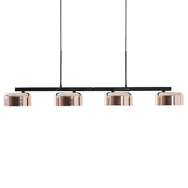 Lalu+ Linear Pendant - Black/Copper Finish