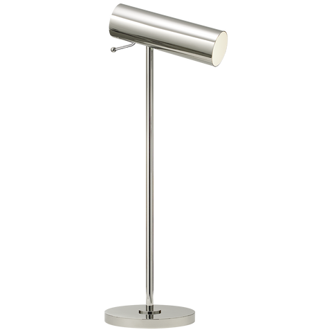Lancelot Pivoting Desk Lamp - Polished Nickel Finish