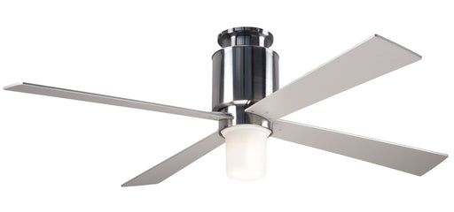 Lapa Flush Ceiling Fan - Nickel (LED Light)