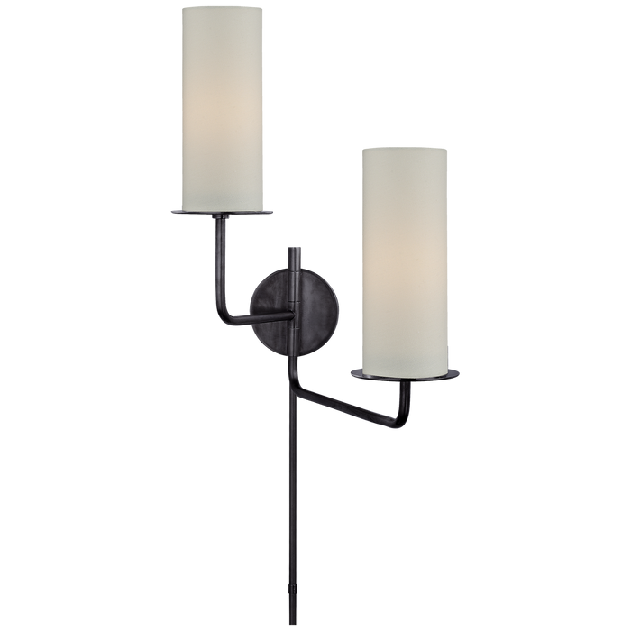 Larabee Double Swing Arm Sconce - Gun Metal