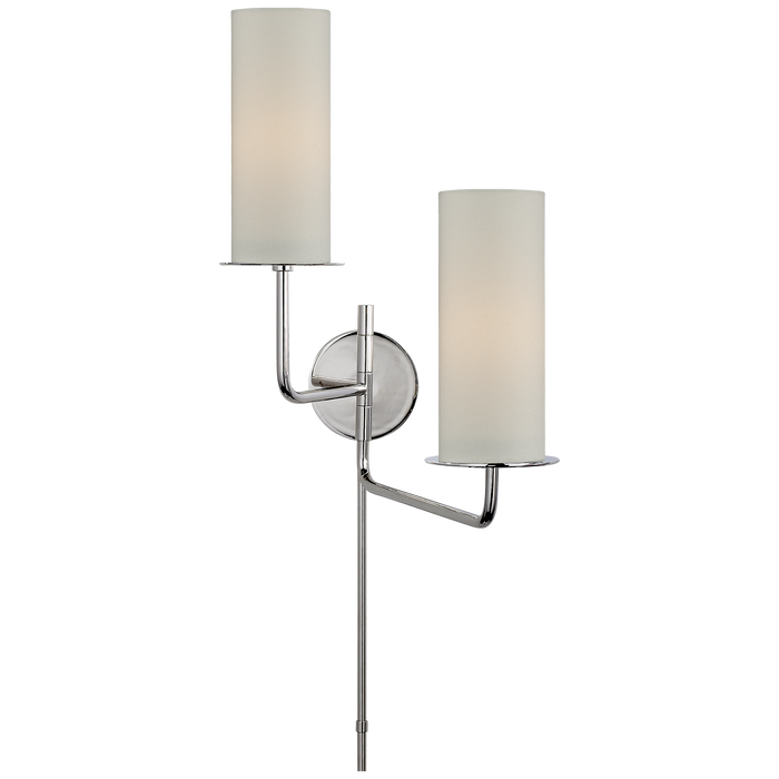 Larabee Double Swing Arm Sconce - Polished Nickel