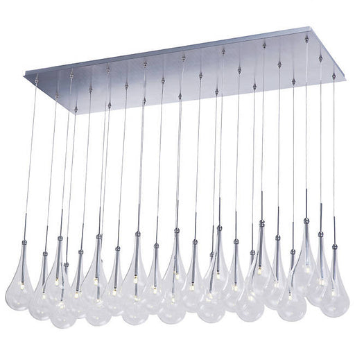 Larmes 24-Light LED Linear Suspension - Polished Chrome