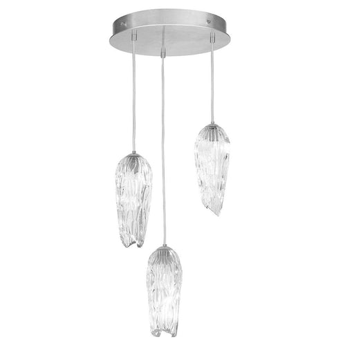 Las Olas 3-Light Pendant - Silver Leaf Finish