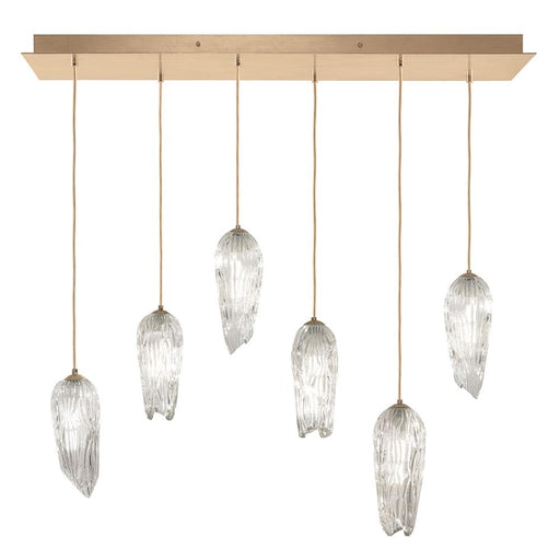 Las Olas 6-Light Linear Suspension - Gold Leaf Finish