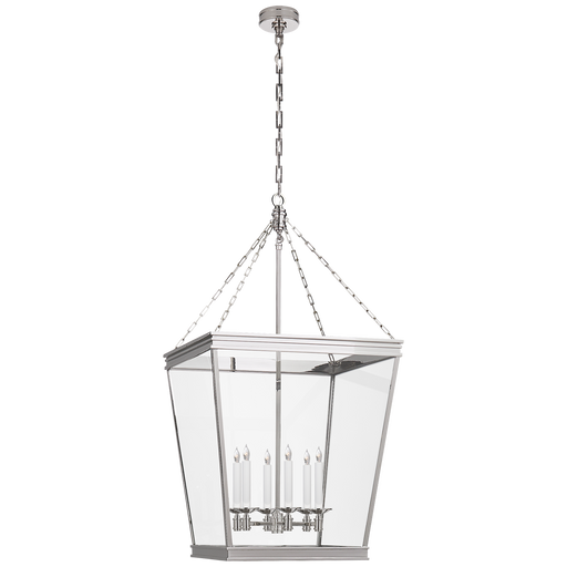 Launceton Large Square Lantern - Polished Nickel