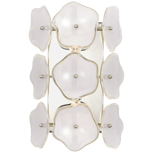 Leighton Small Sconce - Polished Nickel/Cream