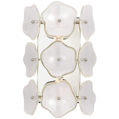 Leighton Small Sconce Polished Nickel/Cream