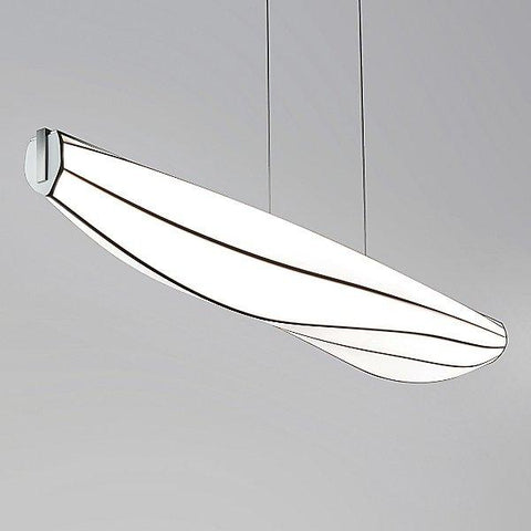 Lenis LED Linear Suspension Light - Brushed Aluminum Finish