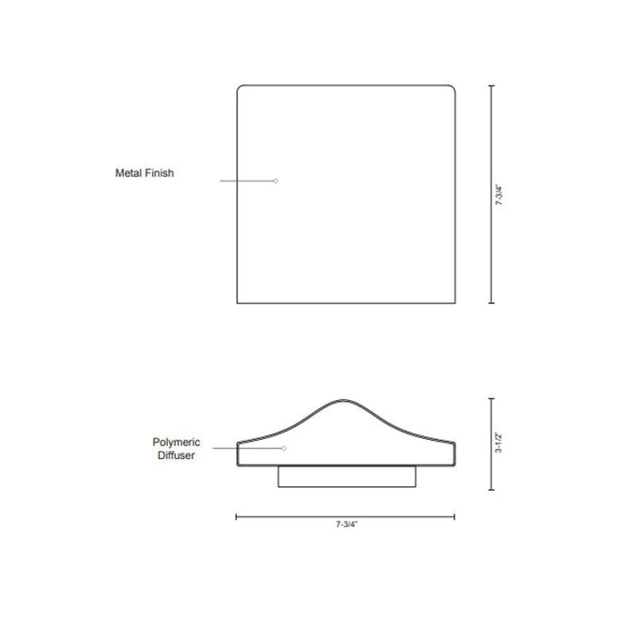 Lenox LED Outdoor Wall Sconce - Diagram