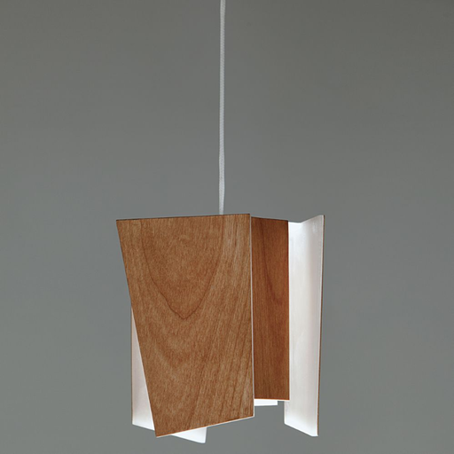 Levis LED Accent Pendant - Beech Wood Veneer