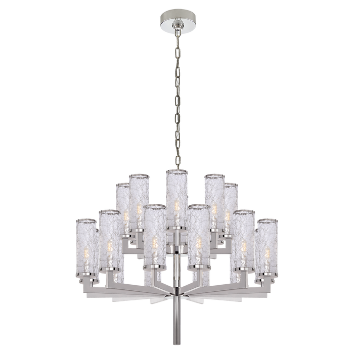 Liaison Double Tier Chandelier - Polished Nickel