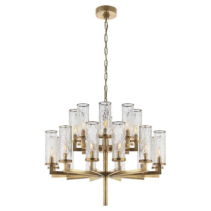 Liaison Double Tier Chandelier - Antique Burnished Brass