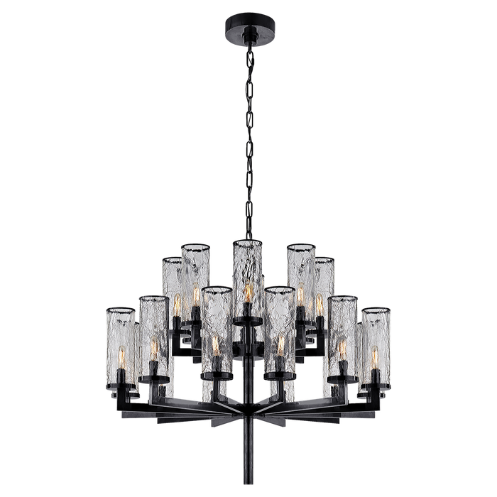 Liaison Double Tier Chandelier - Bronze