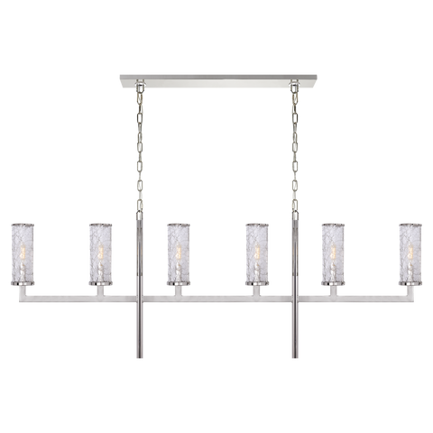 Liaison Large Linear Chandelier Polished Nickel