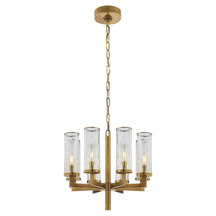 Liaison Single Tier Chandelier - Antique Burnished Brass