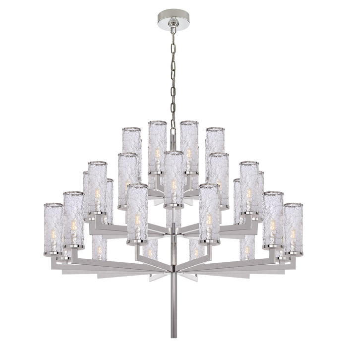 Liaison Triple Tier Chandelier - Polished Nickel