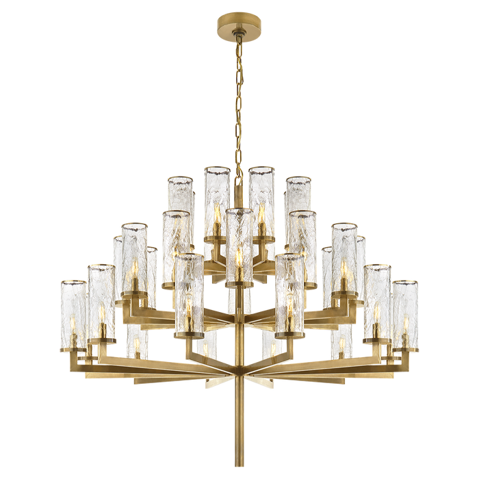 Liaison Triple Tier Chandelier - Antique Burnished Brass